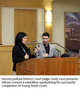 Judge Leos and Adrian Concini