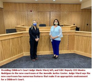 Court Judge Marie Ward and Monica Rodriguez