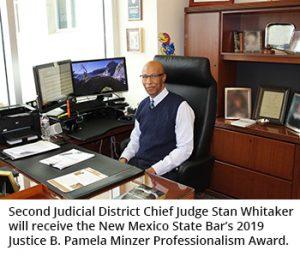 Judge Whitaker will receive Justice Minzer award